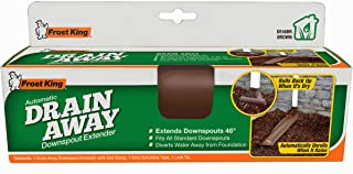 Frost King DE46BR Automatic Plastic Drain Away Downspout Extender, Extends 4-Feet, Brown