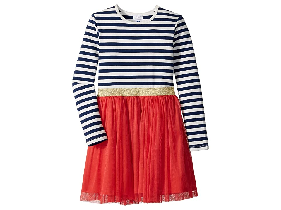 Toobydoo Tulle Party Dress (Toddler/Little Kids/Big Kids) (Navy/Red) Girl