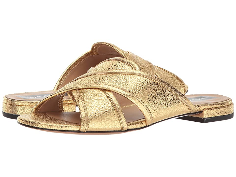 Marc Jacobs Aurora Flat Sandal (Gold) Women