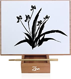 Zen Artist Board Bamboo, Paint with Water Relaxation Meditation Art, Relieve Stress, Large Magic Painting Board Drawing with Watercolor, Bamboo Brush