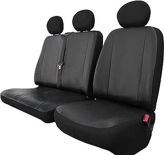 Sitzbezüge 1+2 für VW Crafter II ab 2018 Kunstleder mit Stoff hier BLAU.