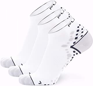 Pure Athlete Ultra-Comfortable Running Socks - Anti-Blister Dot Technology, Moisture Wicking