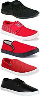 WORLD WEAR FOOTWEAR Sports Running Shoes/Casual/Sneakers/Loafers Shoes for MenMulticolors (Combo-(5)-1219-1221-1140-748-1169)