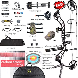 XGeek Compound Bow,Compound Hunting Bow Kit,CNC Milling Bow Riser,Limbs Made in USA,19