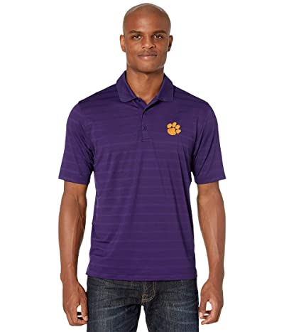 Champion College Clemson Tigers Textured Solid Polo (Champion Purple 2) Men