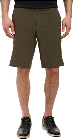 Flat Front Stretch Woven Shorts