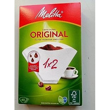 Melitta 6653095 Papel Filtro Cafetera 1x2, Blanco: Amazon.es: Hogar