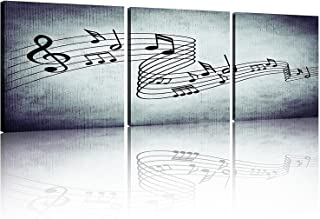 music notes on canvas