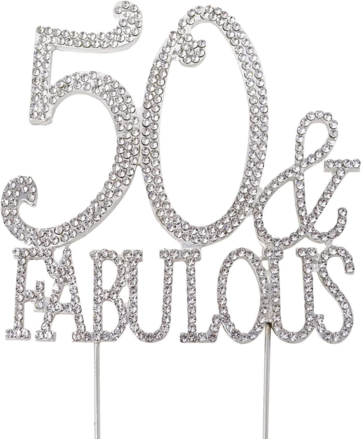HONBAY 50 Fabulous Cake Topper Premium Crystal Sparkly Rhinest Challenge the lowest price of Spring new work one after another Japan ☆