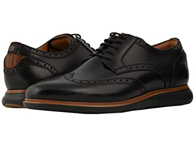 Florsheim Fuel Wing Tip Oxford (Black/Black Sole) Men