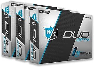 PlayBetter Wilson Staff Duo Soft Optix Matte Bright-Colored Golf Balls | Multi-Packs