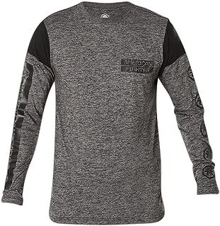 Men's Lorenzo Long Sleeve Tee Shirt Heather Grey/Black