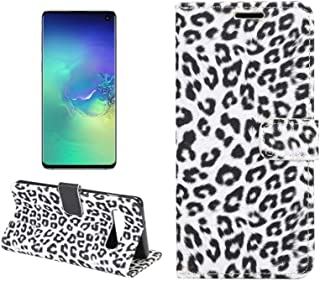 PULUZ-AU Phone Protective Cover Leopard Texture PU + TPU Horizontal Flip Leather Case for Galaxy S10 Plus, with Holder & C...