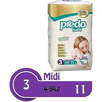 Predo Baby Medium Size Multi Pack Diapers (Pack of 4)