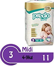 Predo Baby Medium Size Multi Pack Diapers (Pack of 4)