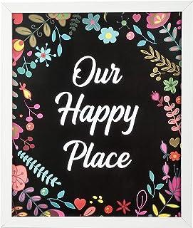 'Our Happy Place' Doozy Hoot Art Frame I Wall Art I Painting I Home Decor I Wall Decor I Poster I Picture Frame I Photo Fr...