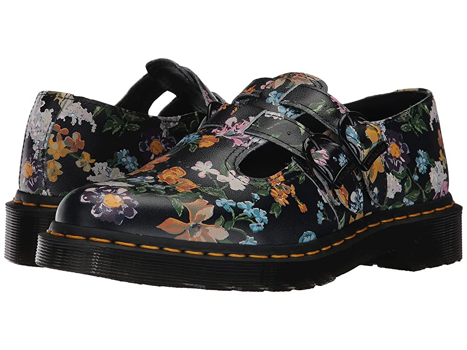 Dr. Martens 8065 DF T-Bar (Black Darcy Floral Backhand) Women