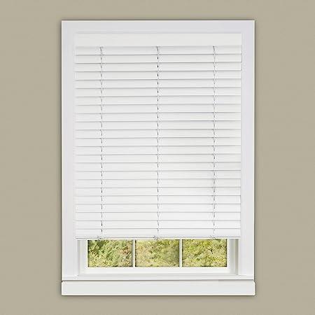 "PowerSellerUSA Achim Home Furnishing Cordless GII Luna 2"" Slat White Venetian Window Blinds 32"" W x 64"" L"