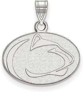 Penn State University Nittany Lions Mascot Logo Pendant in Sterling Silver 14x18mm