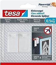 tesa® Plakspijkers voor behang en pleisterwerk (0,5 kg / 3-pack = 6 nagels)