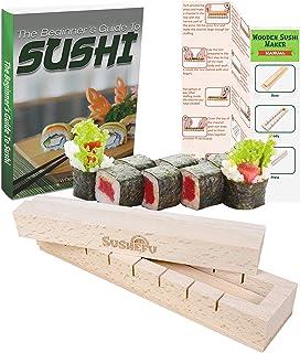 comprar comparacion Kit de preparación de sushi, fácil para principiantes y más amantes del sushi con experiencia, instrucciones y libro elect...