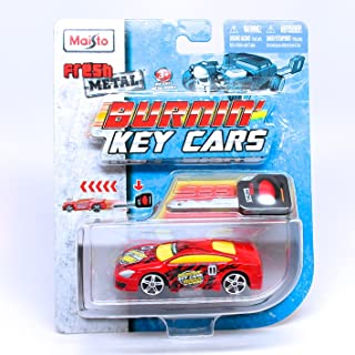 Fresh Metal Fast Money (Red) Burnin' Key Cars Maisto Car with Classic Key Launcher