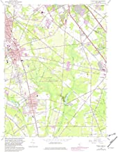 YellowMaps Pitman East NJ topo map, 1:24000 Scale, 7.5 X 7.5 Minute, Historical, 1966, Updated 1982, 26.9 x 22 in