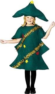 Children Smiffys Disfraz de árbol de Navidad, Verde, con t