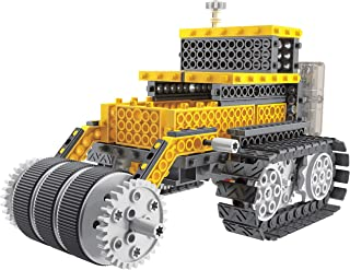 RC DIY, STEM, Construction Vehicles, 4 in 1 Remote Controlled Toy Tractor, Awesome RC Crane, RC Forklift, RC Compactor, RC Truck, Build, Wireless Remote Control, 244 Pieces, Building Blocks