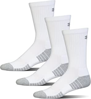 Under Armour Men's Heatgear Tech Crew Socks (3 Pair Pack)