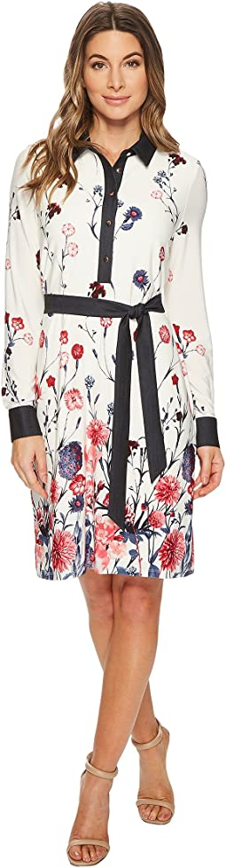 Ivanka Trump - Matte Jersey Printed Shirtdress