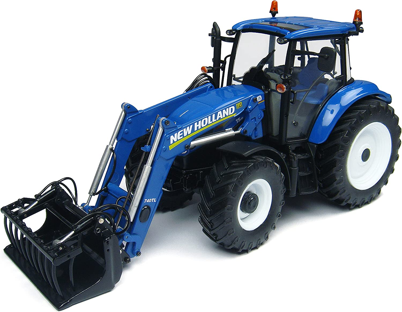 Universal Hobbies–uh4274–Traktor–New Holland t5.115mit vordere Fahrradgabel–Echelle 1 32–Blau