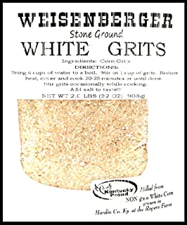 Weisenberger Stone Ground White Grits - Authentic, Old Fashioned, Course Ground Polenta - Non GMO Cornmeal Grits- A Kentucky Proud Product - 2 Pack