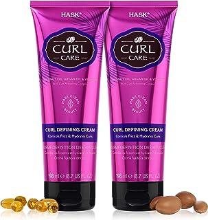 HASK CURL CARE Curl Defining Cream 2 Piece Bundle- vegan formula, cruelty free, color safe, gluten-free, sulfate-free, par...