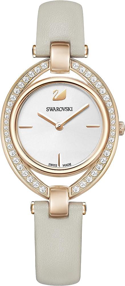 Swarovski  stella orologio da donna in acciaio inossidabile e pelle