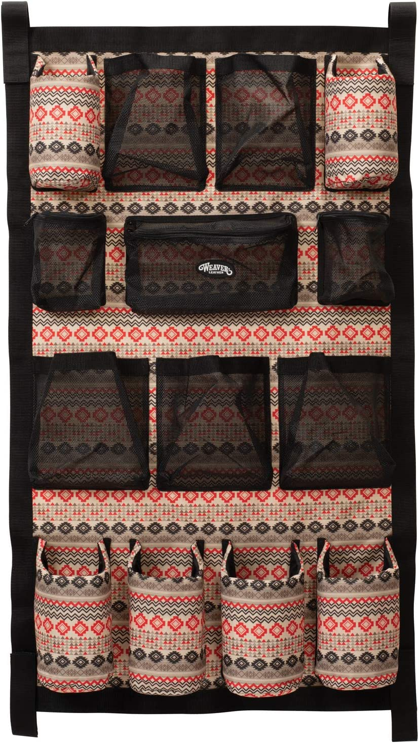 """Weaver Leather Trailer Grooming Bag, Crimson Aztec, 23"""" W x 39"""" H : Sports & Outdoors"""