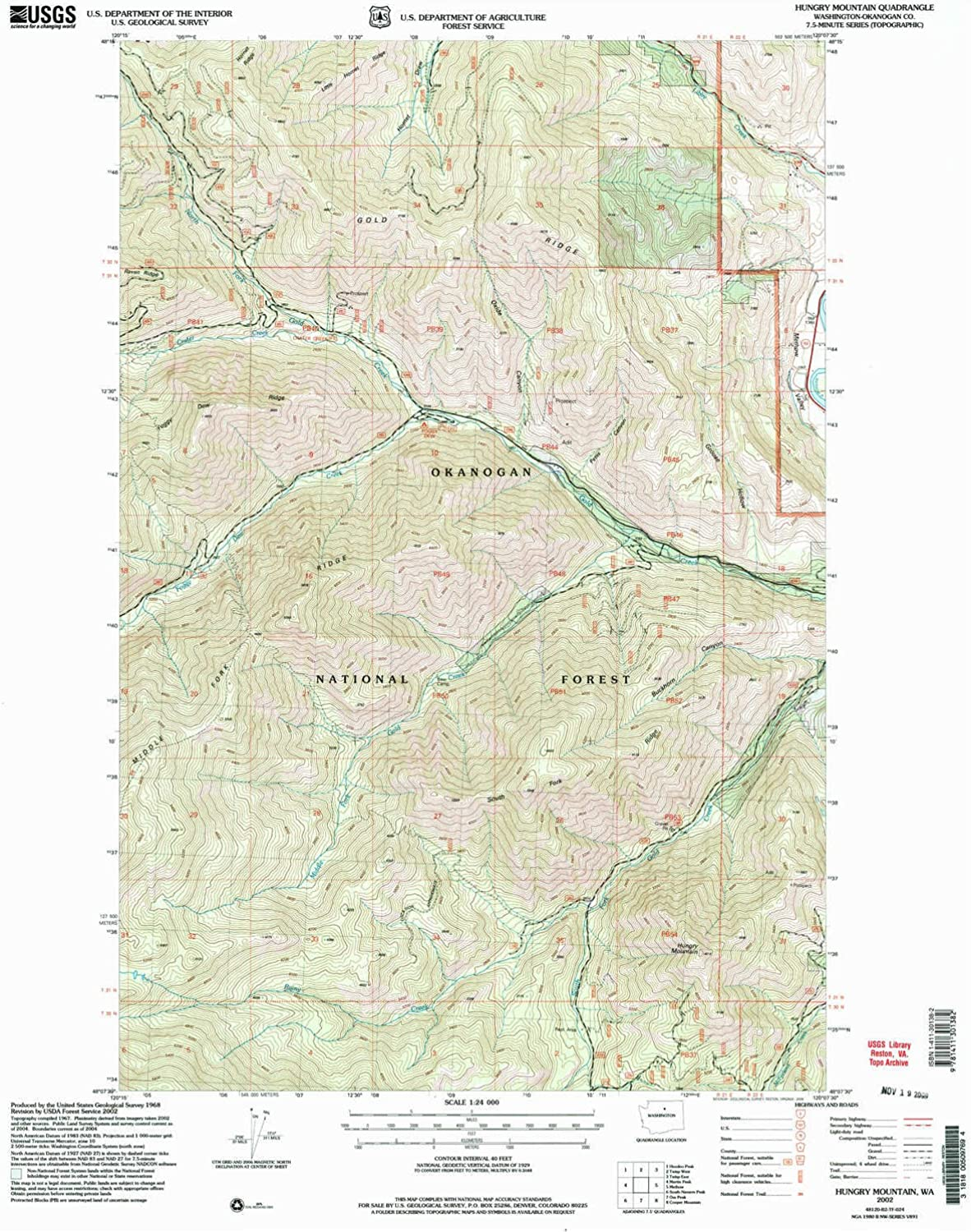 Hunger Mountain WA topo map, 1 24000 Scale, 7.5 X 7.5 Minute, Historical, 2002, Updated 2006, 26.8 x 22.2 in