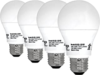 Sunrise SLED-13/SD A19 14W, 75W Equivalent, Soft White Dimmable Bulbs - 4 Pack