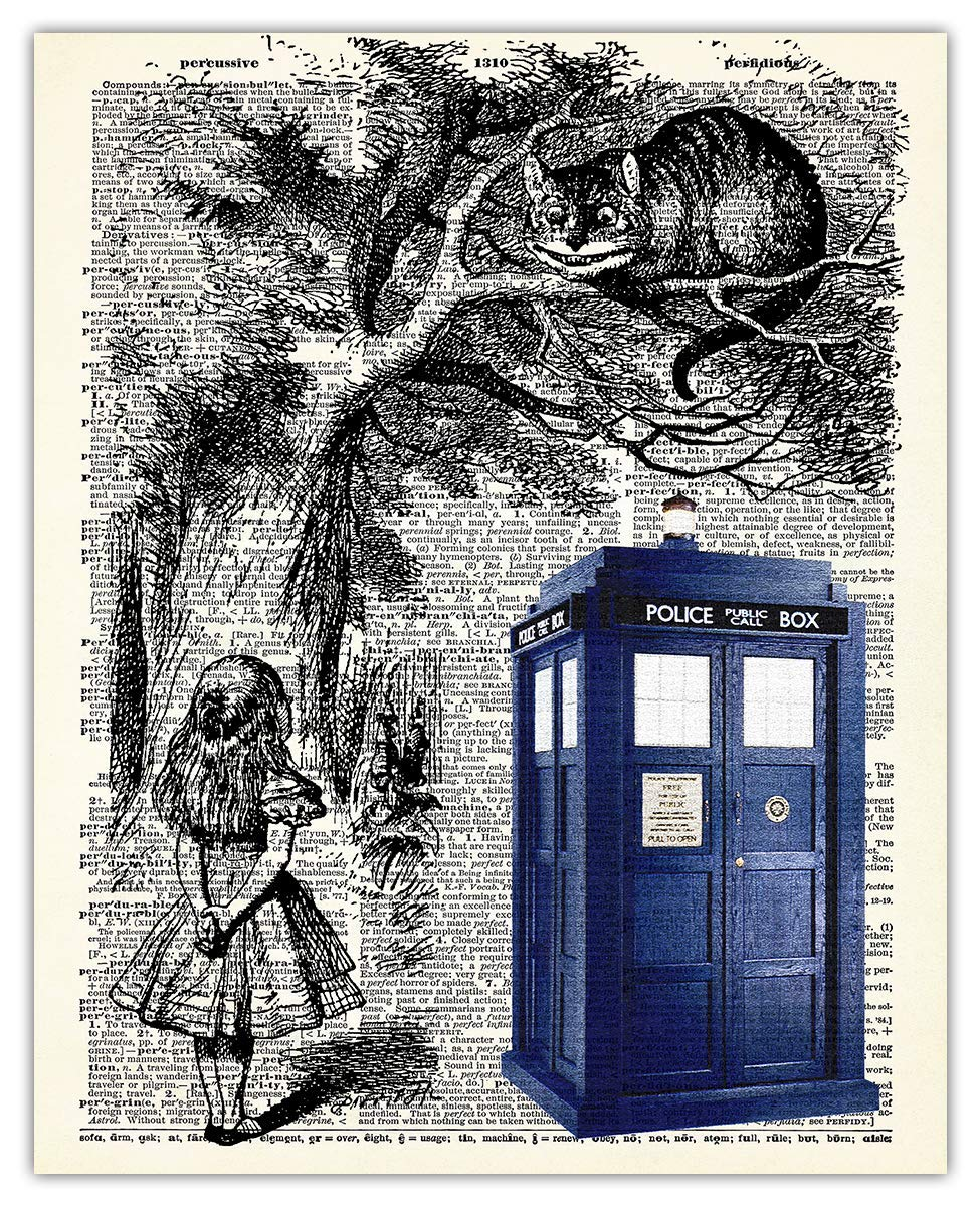 Alice and Cheshire Cat Dictionary Wall Print: Room Max 81% Fashion OFF Art De Unique