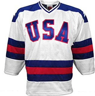 1980 USA Olympic Miracle On Ice Home Jersey (Adult Large)