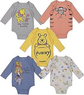 Winnie The Pooh 5 Pack Long Sleeve Bodysuits