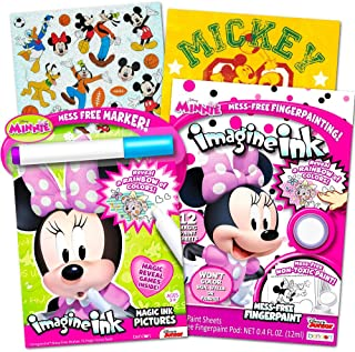 Disney Minnie Mouse Coloring Book and Mess-Free Painting Set for Toddlers and Kids (Includes Minnie Mouse Stickers)
