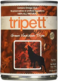 Petkind Tripett Green Venison Tripe Canned Dog Food, 13-Oz, 12 Count