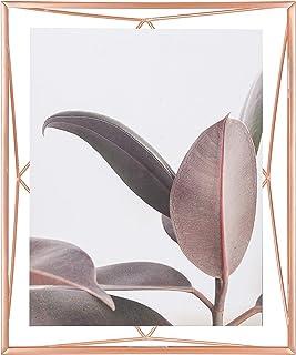 UMBRA Prisma Cadre photo filaire en métal entre deux-verres Prisma, poser ou à accrocher, Pour 1 photo 20.3 x 25.4 cm, cuivre