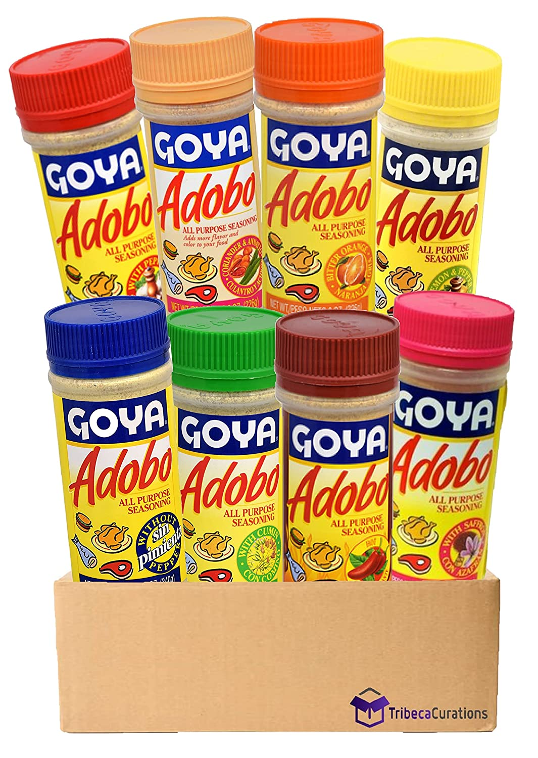 Free shipping 5% OFF Goya Adobo Seasoning Ultimate Variety Flavors Total Pack 8