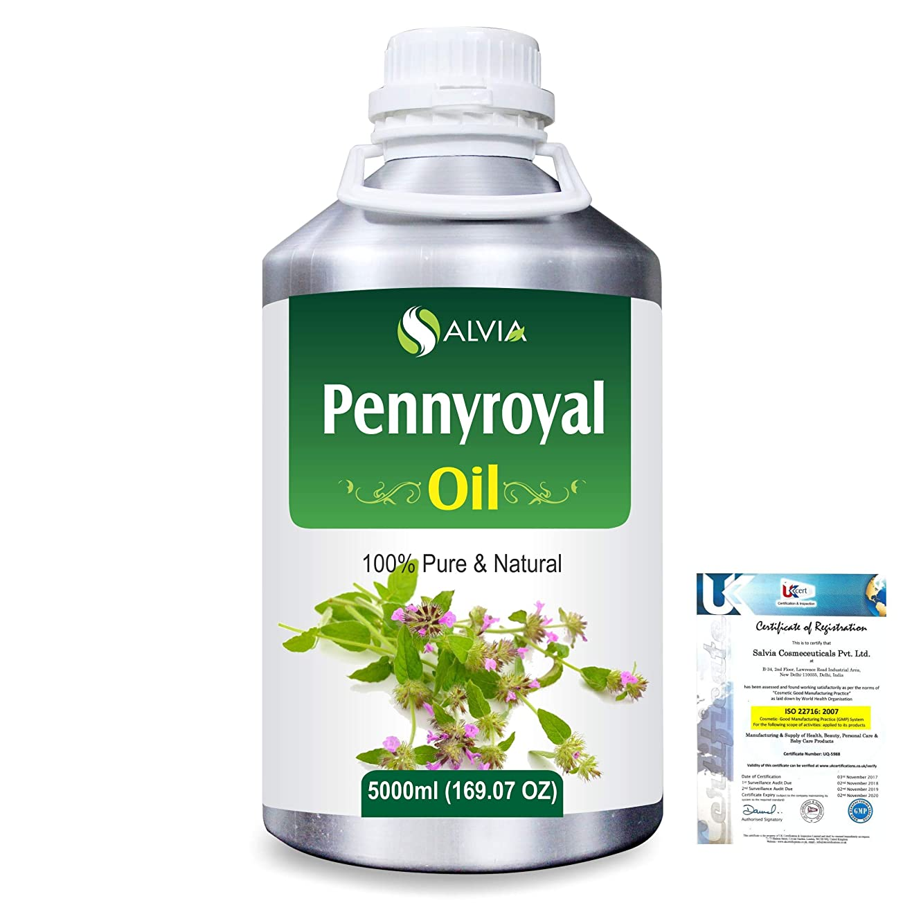 あえぎペフ裁定Pennyroyal (Mentha pulegium) 100% Natural Pure Essential Oil 5000ml/169fl.oz.