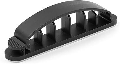 StarTech.com 100 Pack Cable Management Clips - Self Adhesive 6 Slot Cable Comb - Resusable Desktop USB/Computer/Ethernet/A...