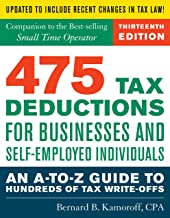 475 Tax Deductions for Businesses and Self-Employed Individuals: An A-to-Z Guide to Hundreds of Tax Write-Offs Book PDF