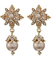 Marchesa - Crystal Glass Pearl Drop Earrings