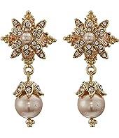 Marchesa - Crystal Glass Pearl Drop Earrings